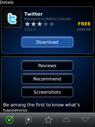 How to install an Application using BlackBerry App World