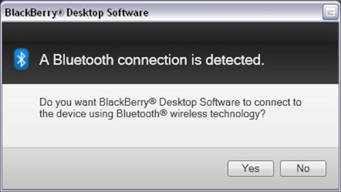 Bluetooth Pairing your BlackBerry smartphone to your