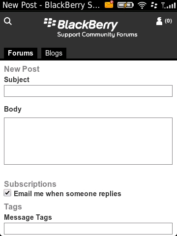 BlackBerry Support Community Forums (mobile version)