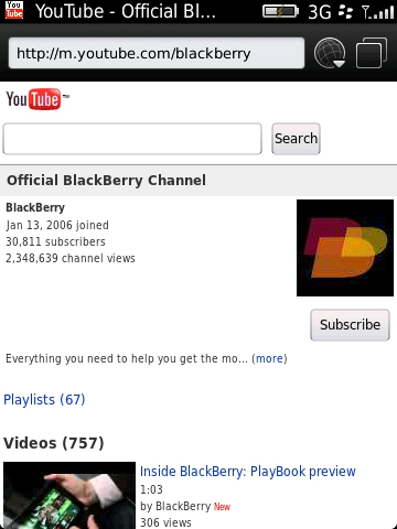 How to view YouTube videos on your BlackBerry