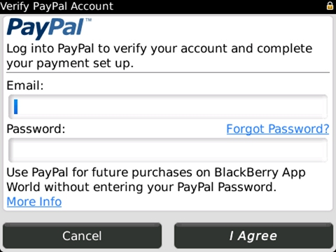 BlackBerry App World payment options