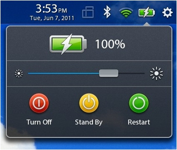 BlackBerry PlayBook tablet battery charging