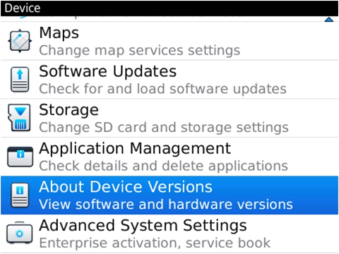 BlackBerry Device Software
