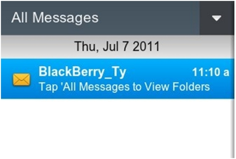BlackBerry Bridge messages