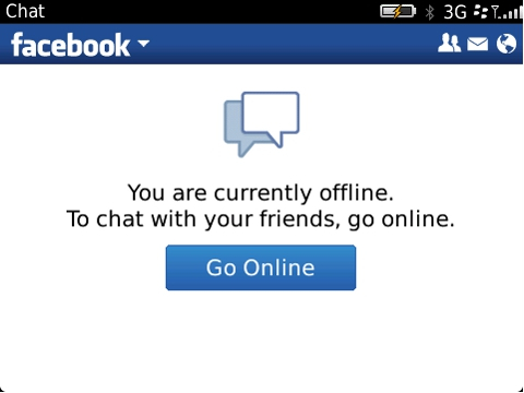 Facebook Chat in Facebook for BlackBerry smartphones 2.0