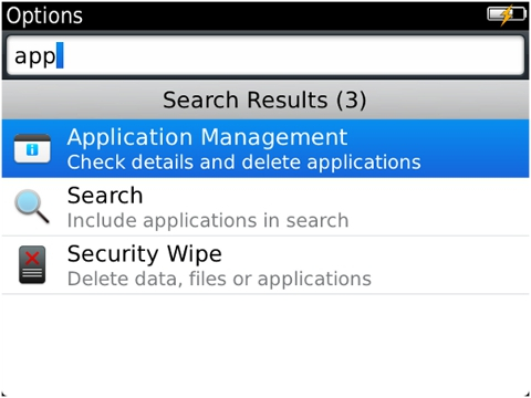 Identify BlackBerry smartphone app version