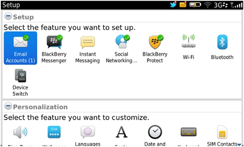 Set up BlackBerry 7 email