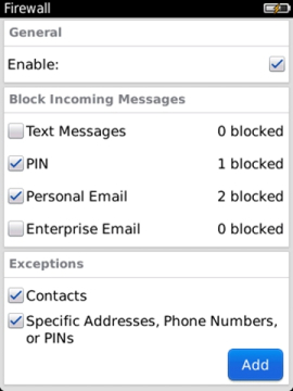 Block a message on a BlackBerry smartphone
