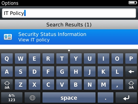 How to remove an obsolete IT policy from a BlackBerry smartphone
