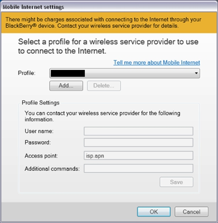 How to use Internet Tethering with BlackBerry Desktop