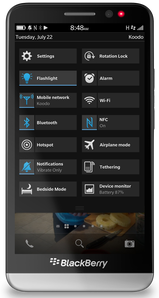 How to turn on the flash light using BlackBerry 10